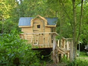 chestnut and macrocarpa treehouse and deck