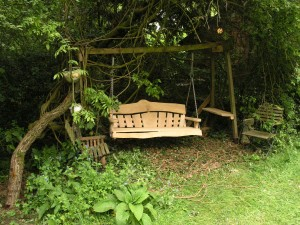 oak swingseat in an exisiting frame