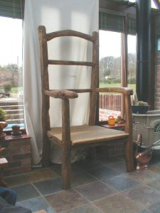 Giant chestnut conservatory chair