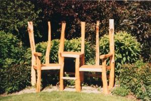 Chestnut lovers bench