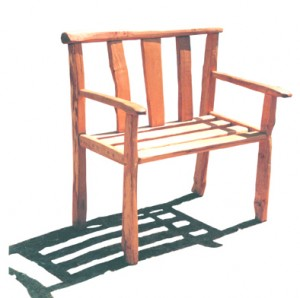 Pair of chestnut benches