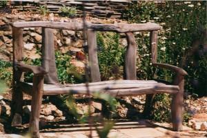 Chestnut garden bench