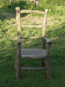 Chestnut garden chair