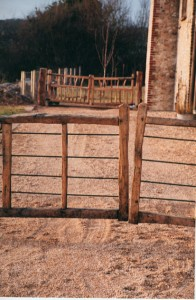 Chestnut and steel gates