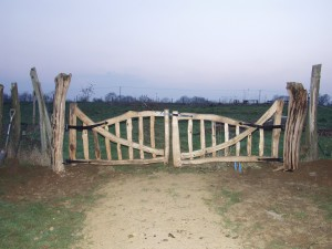 Curved chestnut field gates
