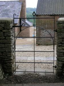 Steel pedestrian gate