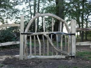 Chestnut garden gate