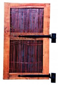 Oak and copper pedestrian door