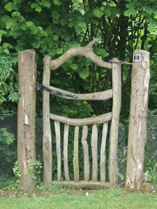 Chestnut gate and posts