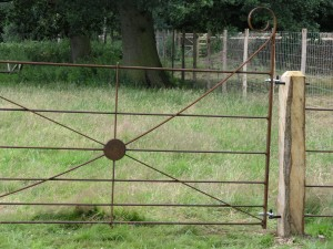 Steel double horse gates