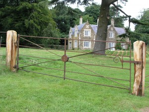 Refurbished estate gate