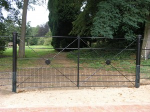 Steel double gates