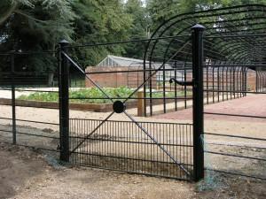 Rabbit proof steel gate - Ed Brooks Ed Brooks
