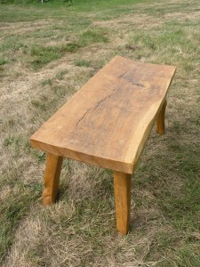 oak and chestnut coffee table