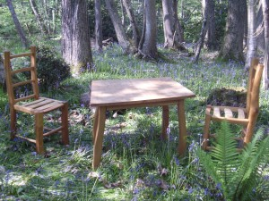Elm and chestnut table