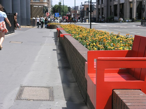 Bespoke public seating wooden