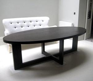 Dark Oak Oval Dining Table
