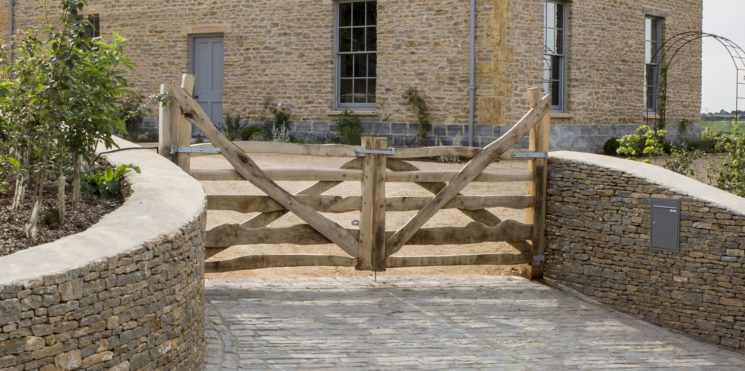 5 bar Split Chestnut Entrance Gate by Ed Brooks Furniture