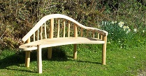 Chaise longue oak bench