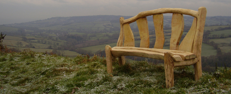 chestnut and oak bench