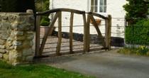 Oak & iron driveway gates