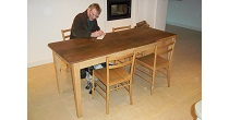 Chestnut table with Elm top