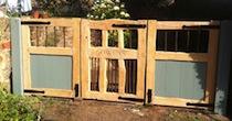 Chestnut paint panel gates