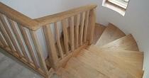 Chestnut staircase