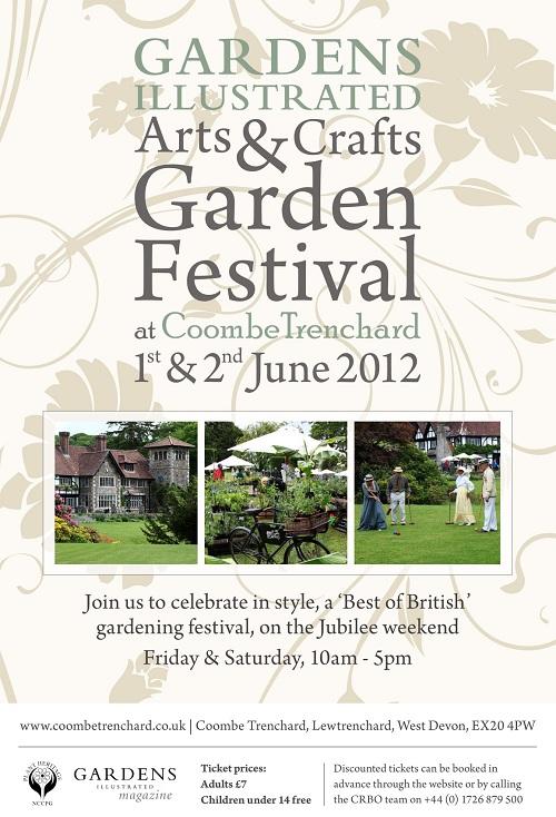 Coombe Trenchard Garden Festival 2012 Poster