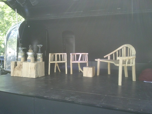 Start Eco Car stage with furniture