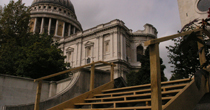 Oak steps at St Pauls