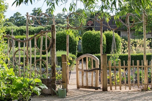 Ed Brooks Furniture garden gate Raymond Blanc Homes and Gardens Magazine feature A