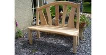Fan back chestnut bench