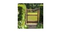 Oak & wrought iron gates