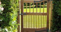 Oak & wrought iron gates