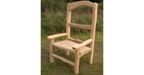 Giant oak garden chair