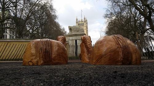 Horses Royal Parks Oak sculpture 2