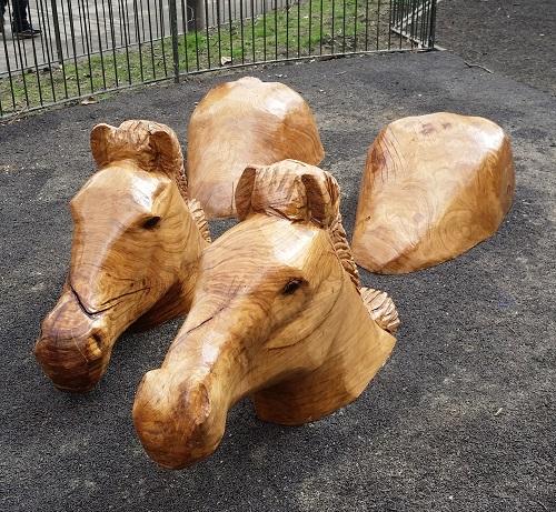 Horses Royal Parks Oak sculpture