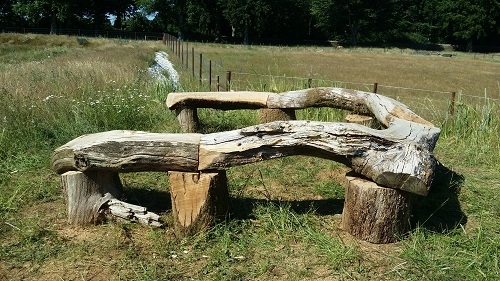 Horseshoe viewing bench 2