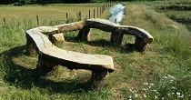 Horseshoe viewing bench