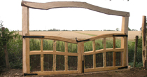 Oak gates with arch
