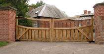 Oak double entrance gates