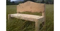 Chestnut & oak panel bench