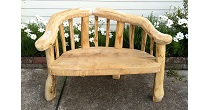 Chestnut wedding bench