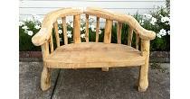 Chestnut wedding bench