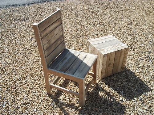 Pallet chair and pallet block