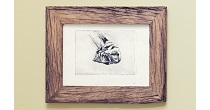 weathered oak picture frame