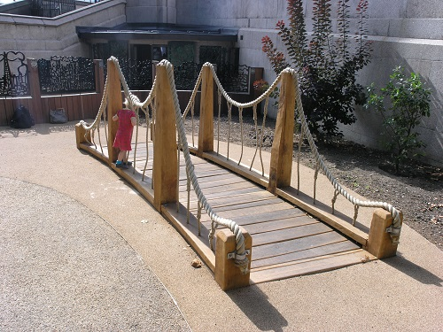 Royal Parks oak bridge play ground equipment