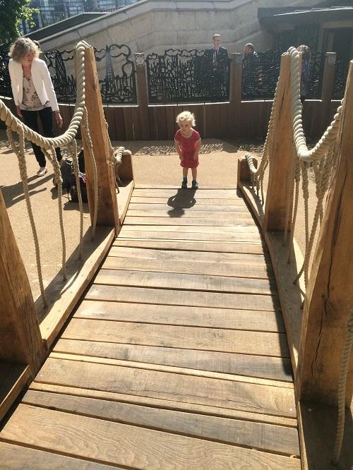 Royal Parks wobbly oak bridge 3