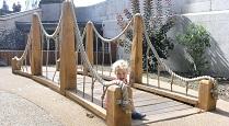 Childrens playground bridge